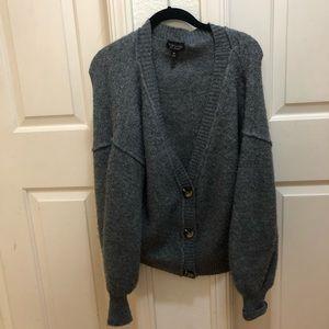 Chunky grey cardigan